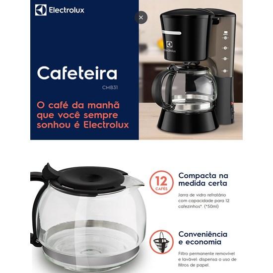 Cafeteira Easyline Cmb31 12Cafés Electro Preto
