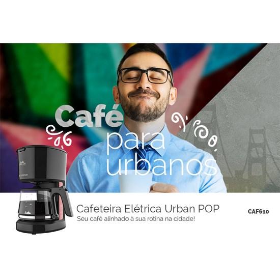 Cafeteira Elétrica Urban Pop Red Cadence Preto