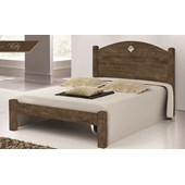 Produto Cama Solteiro Kely Flex Castanho Wood Av/Ct