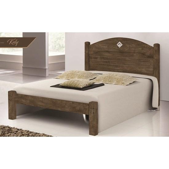 Cama Solteiro Kely Flex Castanho Wood Av/Ct