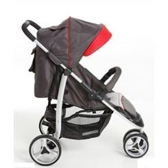 Carrinho De Bebê Apollo Grafite/Vermelho