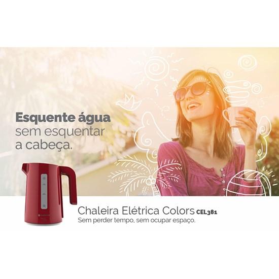 Chaleira Elétrica Cadence Thermo One Vermelho