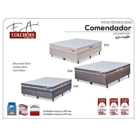 Colchão Casal 138X188x24c Comendador D45 Preto