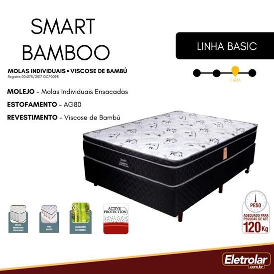Colchão Casal Mola 138X188 Smart Bamboo Preto