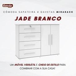 Cômoda Sapateira 4 Gavetas Jade Mirarack Branco