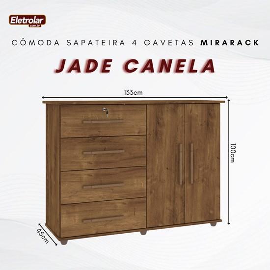 Cômoda Sapateira 4 Gavetas Jade Mirarack Canela