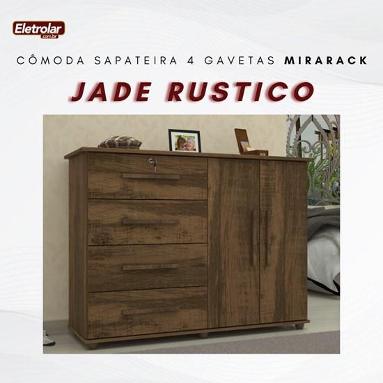 Cômoda Sapateira 4 Gavetas Jade Mirarack Rustico