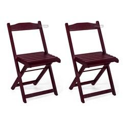 Conjunto 2 Cadeiras Dobrável Pellas Imbuia