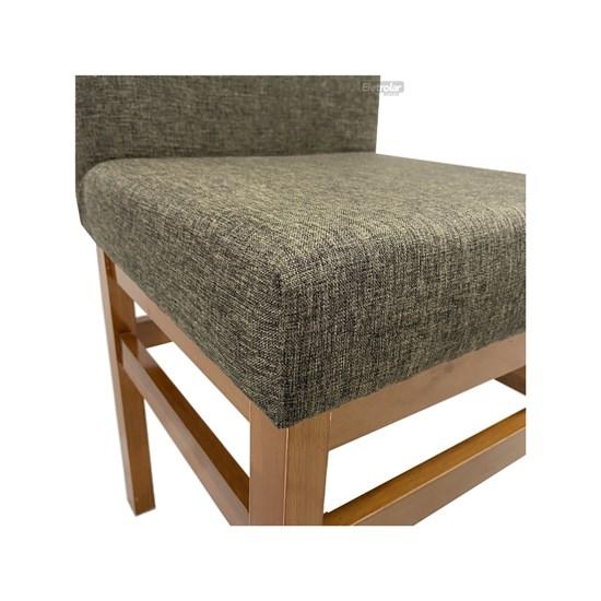 Conjunto 2 Cadeiras Encosto Estofado Aris Canela Linho