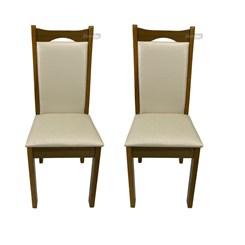 Conjunto 2 Cadeiras Eubeia Tecido Facto Bege