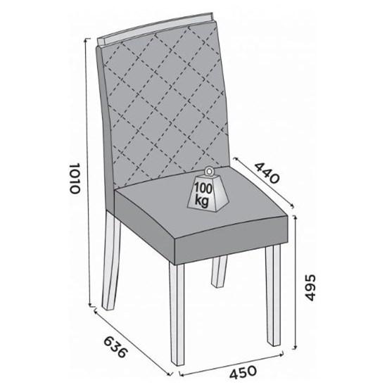 Conjunto 2 Cadeiras Golden Dj Linho Rust Malbec Linho