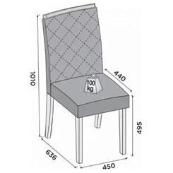 Conjunto 2 Cadeiras Golden Dj Linho Rust Terrara Linho