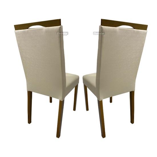 Conjunto 2 Cadeiras Lemnos Tecido Facto Bege