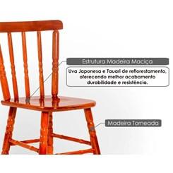 Conjunto 2 Cadeiras Torneada Madeira Maciça Mel