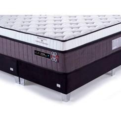 Conjunto Box Bioquântico Vibromassagem Queen Premium 158X198cm Zen F.A