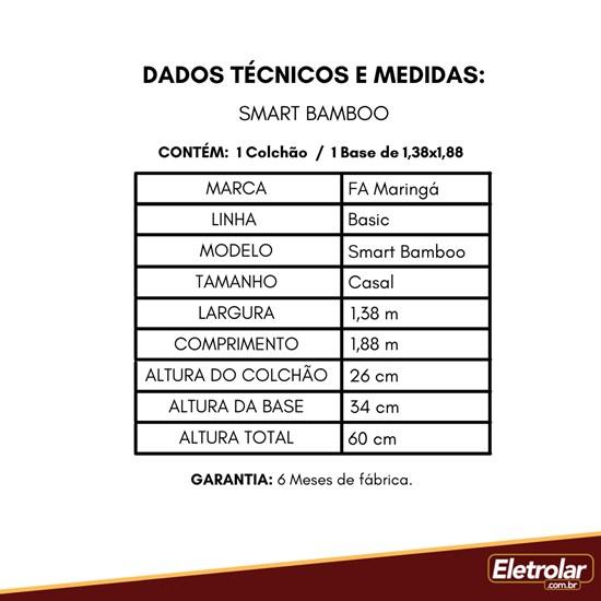 Conjunto Box Smart Bamboo 138X188x26
