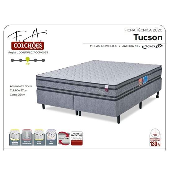 Conjunto Colchão Queen Size 158X198x67 Tucson Prime