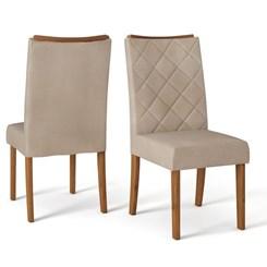 Conjunto De Cadeiras Golden (2 Uni) Rust Terrara/Linho S