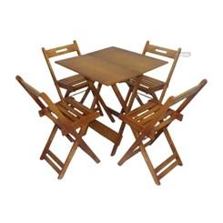 Conjunto De Mesa Dobrável Com 4 Cadeiras Pellas Mel
