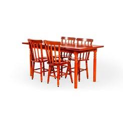 Conjunto De Mesa Mônaco 1.10Mts Com 4 Cadeiras Torneada