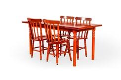 Conjunto De Mesa Mônaco 1.10Mts Com 4 Cadeiras Torneada Disa