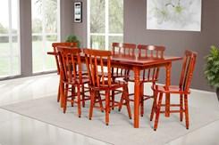 Conjunto De Mesa Mônaco 1.60Mts Com 6 Cadeiras Torneada