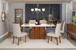 Conjunto Mesa Com 6 Cadeiras Itália