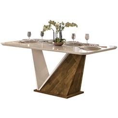Conjunto Mesa Forme 180X90cm 6 Cadeiras Demolicao/Offwhite