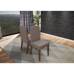 Conjunto Mesa Galles C/6 Cadeiras 160X90 Canela/Off White