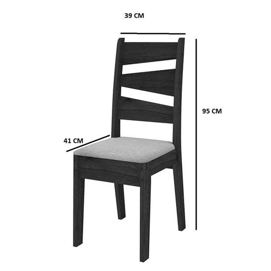 Conjunto Mesa Isis Com 4 Cadeiras90x90cm Avelã