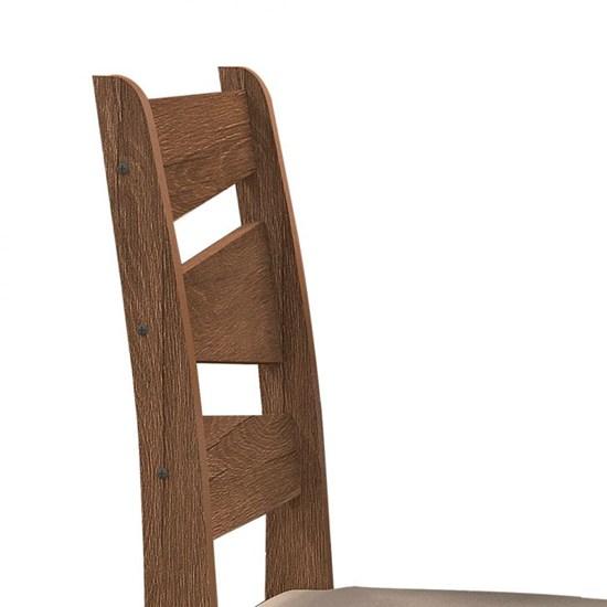 Conjunto Mesa Isis Com 6 Cadeiras135x090 Avelã
