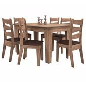Produto Conjunto Mesa Isis Com 6 Cadeiras135x090 Avelã