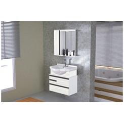 Conjunto Para Banheiro Firenze 63.5Cm Branco/Palissandro A
