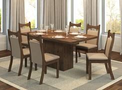 Conjunto Sala Tróia Com 6 Cadeiras Pluma Fendy/Ameixa