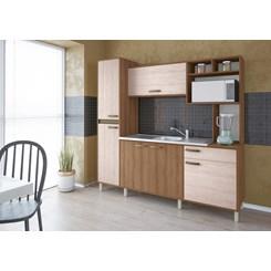 Cozinha Compacta Alana Móveis Sul Amendoa Nature