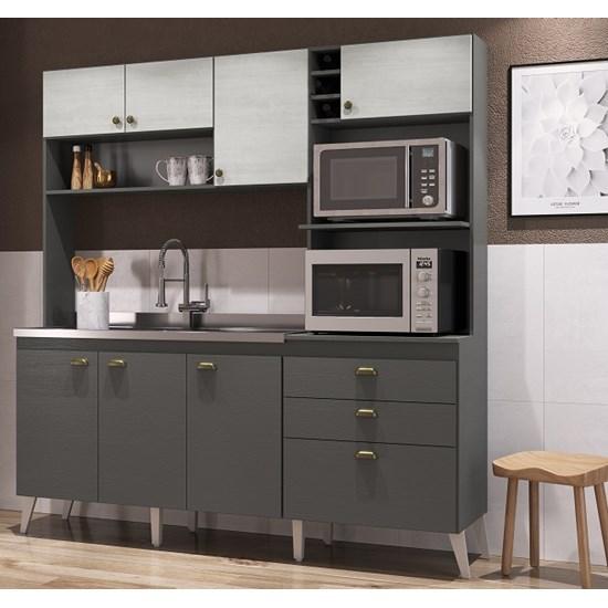 Cozinha Compacta Donna Casamia Grafite/Snow