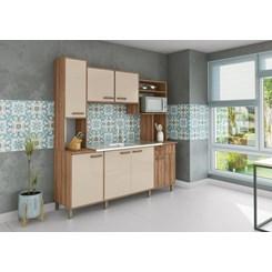 Cozinha Compacta Luana Móveis Sul Amendoa Nudi
