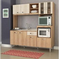 Cozinha Compacta Tati Fellicci Carvalho/Blanche