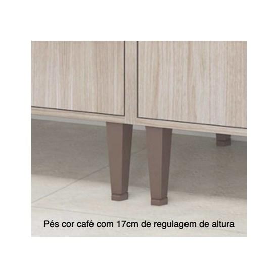Cozinha Fellicci 6 Peças Nogueira