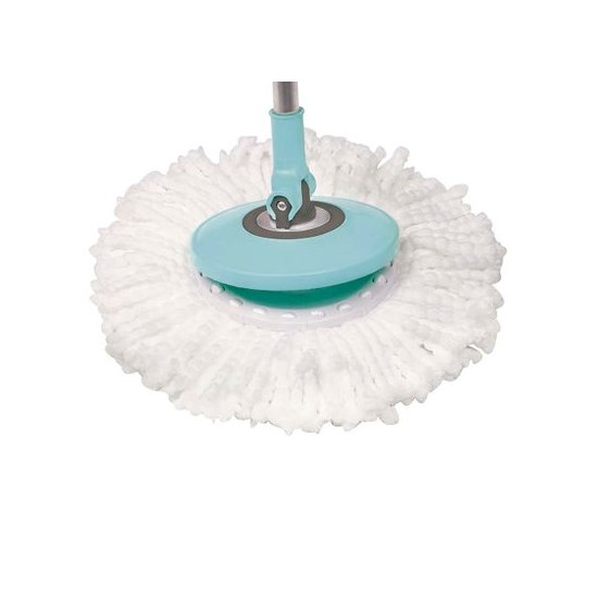 Esfregão Mop Limpeza Prática Azul/Cinza