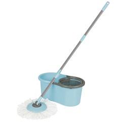 Esfregão Mop Limpeza Prática Mor Azul/Cinza