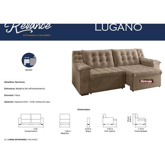 Estofado 2,20M Lugano Reliance Veludo 6266
