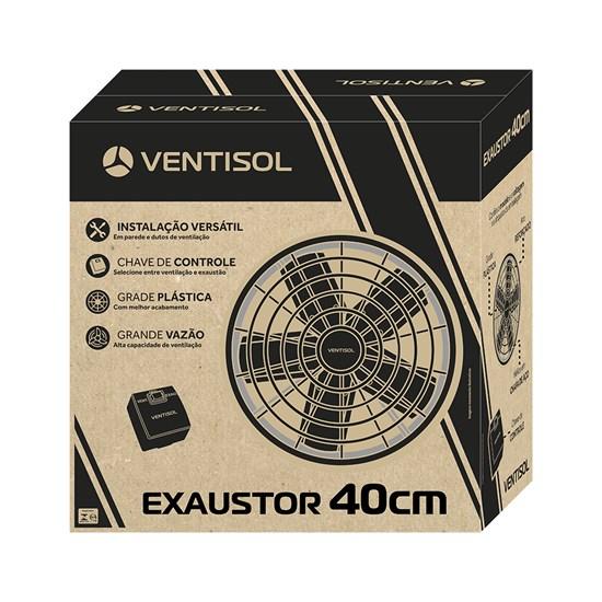 Exaustor Industrial 40Cm Ventisol Preto