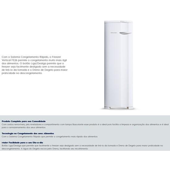 Freezer Vertical 203L Fe26 1 Porta Branco