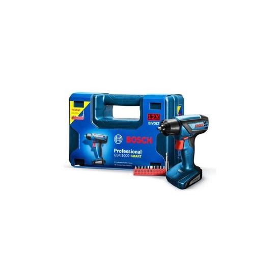 Furadeira Parafusadeira Bateria Gsr1000 Preto - Azul