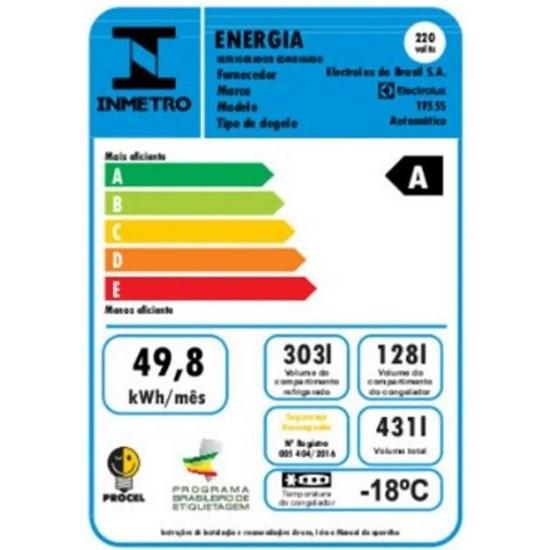 Geladeira 431L 2P Tf55s Frost Free Inox