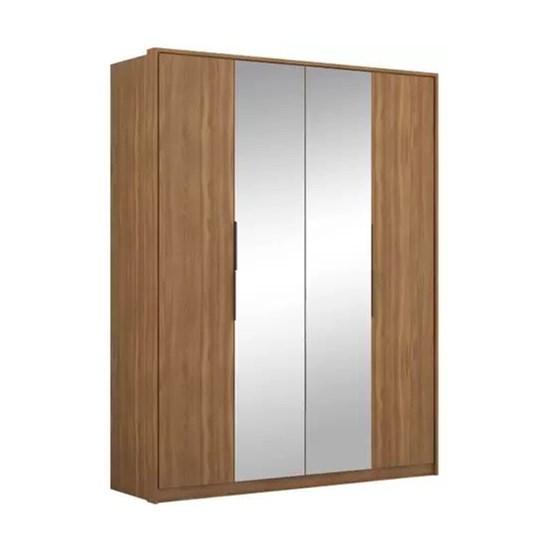 Guarda Roupa 4 Portas Attore Com Espelho Amêndola