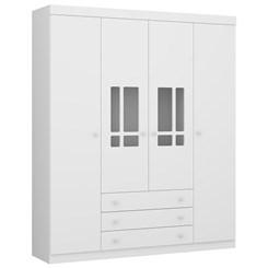 Guarda-Roupa 4 Portas Brigadeiro Plus Branco Premium