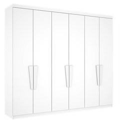 Guarda-Roupa Casal 6 Portas Supreme Branco
