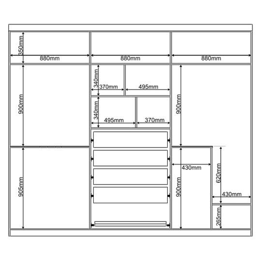 Guarda-Roupa Casal 6 Portas Supreme Canela